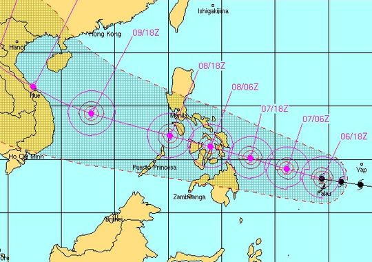SUPER TYPHOON due to Hit Late Thursday!!!???